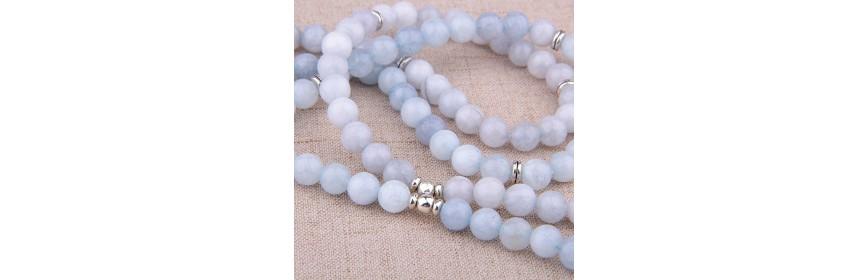 Bracelets Double Tour de poignet en Pierres naturelles