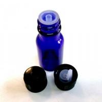 Bouteilles en verre Bleu avec pipettes 10 ml