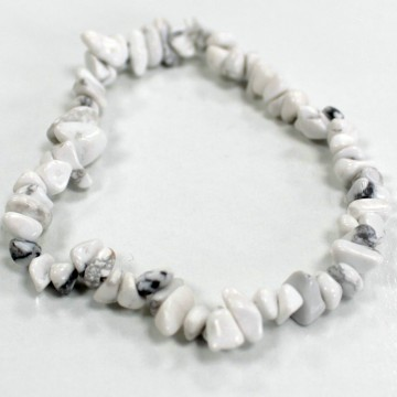 Bracelet en Eclats de Pierre Jaspe Blanc