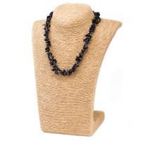 Colliers en Eclats de pierre d'Agate noire