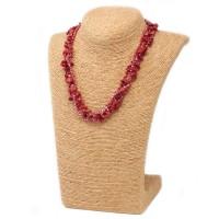 Colliers en Eclats de pierre de Corail rouge