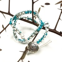 Bracelet Agate Blanche & Turquoise