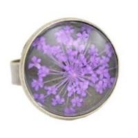Bague Fleur pressée - Violet