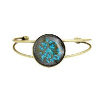 Bracelet Fleur pressée - Bleu ciel