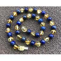Bijoux en Ambre et Lapis Lazuli