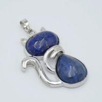 Pendentif chat en Lapis-Lazuli