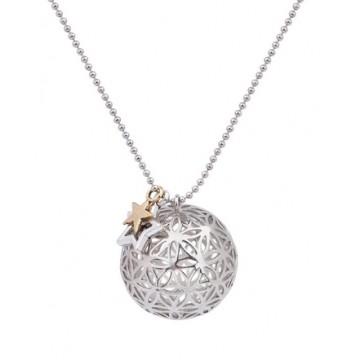 Collier motif Fleur de vie - Argenté