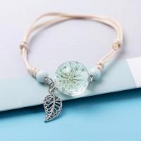 Bracelet Fleur pressée - Bleu