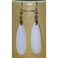 Boucles d'oreilles en Opale