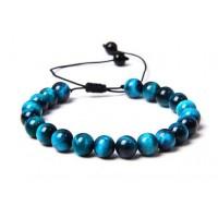 Bracelet d'Oeil du Tigre Bleu