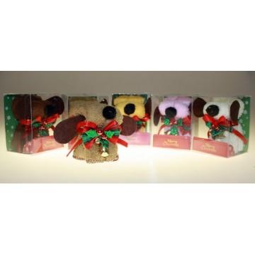 Serviettes de bain chien Noël