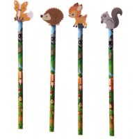Crayons avec gomme - Animaux de la forêt